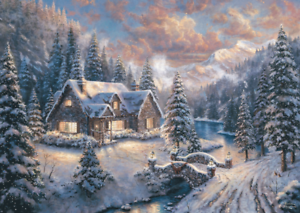 schmidt 59493 thomas kinkade weihnachten in den bergen. Black Bedroom Furniture Sets. Home Design Ideas