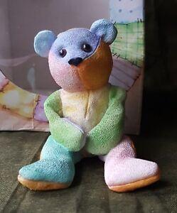 Cute Treasured Pal Rainbow the Bear Ornament Gift Idea Boxed UK Freepost
