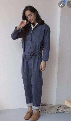 Baserange Washed Silk Denim Jumpsuit Size M