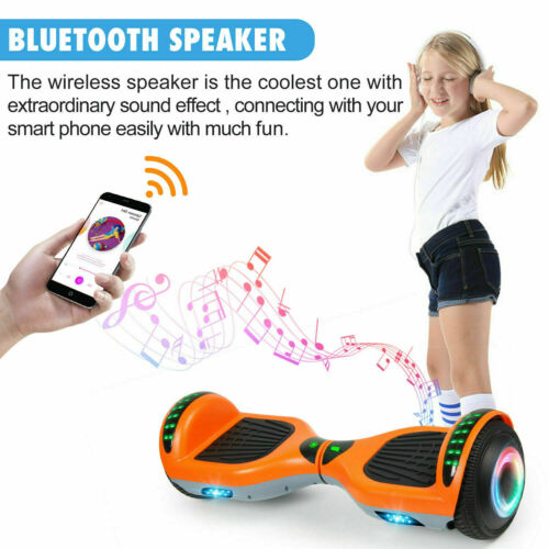 All Terrain Bluetooth Hoverboard LED Self Balancing Electric Scooter UL No Bag