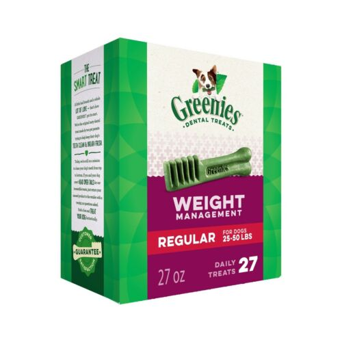 GREENIES Weight Management Dental Dog Treats Regular 27 oz Free Shipping