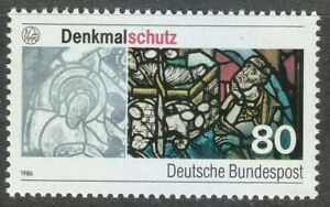 Germany-1986-MNH-Mi-1291-Sc-1468-Augsburg-Cathedral-Stained-Glass-Window