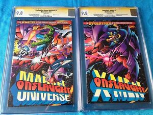 Onslaught-Marvel-and-X-Men-set-Marvel-CGC-SS-9-8-NM-MT-Signed-by-Mark-Waid