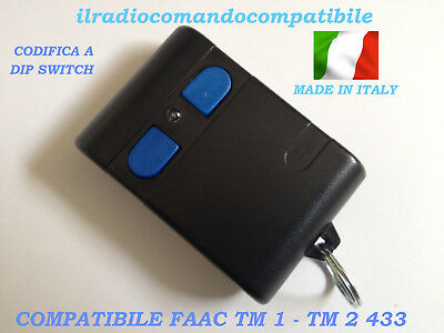 Radiocomando Compatibile Faac Tm2 433 Codifica A Dip Switc Come L'originale