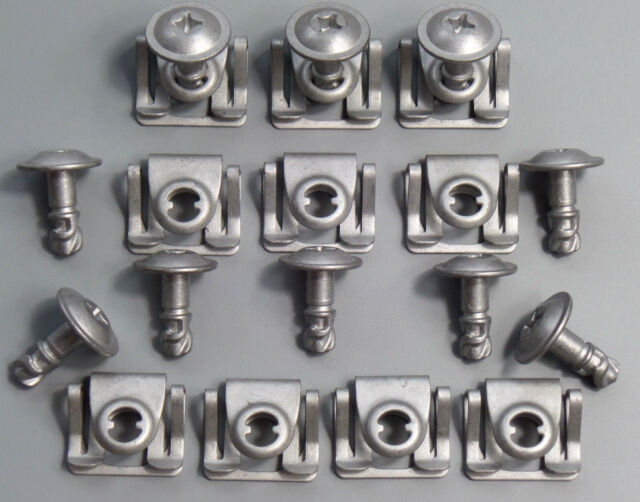 20 Parts Screws Retaining Brackets Clips Skid Plate Motor for BMW E39 E38 E52