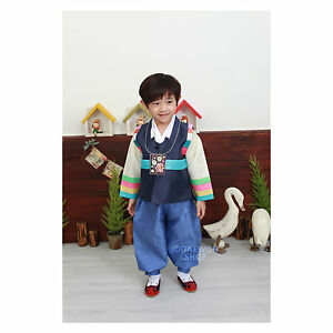 016ce517eb89 Image is loading Korean-Traditional-Dress-Boys-Hanbok-Rainbow-Vest-Baby-