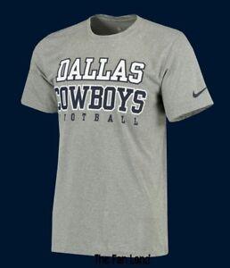 53ef92cb6 New NFL Dallas Cowboys Nike DRI FIT Mens Gray Legend Practice 2.0 T ...