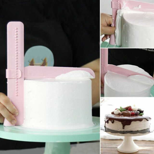 New Sugar Craft Fondant Cake Scraper Icing Smoother Dough Cutter Decoration Tool