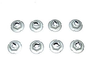 70-81 FIREBIRD TRANS AM NEW FRONT AND REAR SIDE MARKER LIGHT SPEED NUTS SET OF 8