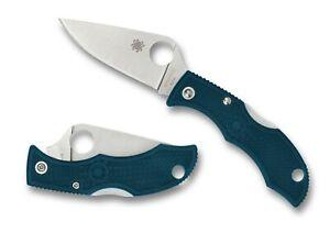Spyderco-Ladybug-3-Blue-FRN-Handle-K390-Steel-Plain-Edge-Knife-LFP3K390