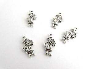 Scottish Bagpipes Scotland theme charms x 5 for jewellery making or card crafts