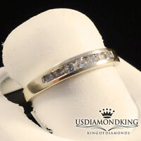 10K YELLOW GOLD LADIES WOMEN'S .25CT GENUINE REAL DIAMOND WEDDING RING BAND SZ6