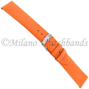 20mm-Morellato-Orange-Genuine-Calfskin-Leather-Stitched-Mens-Watch-Band-112