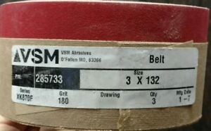 "5pcs 2/""x72/"" Sanding Belts Ceramic VSM XK870X 80 Grit"
