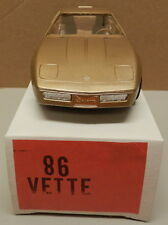 1986 86 GOLD CHEVY CORVETTE VETTE DEALER NOS AMT MPC PROMO PROMOTIONAL
