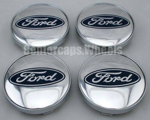 SET of 4 Chrome Ford 60mm Center Caps 2 3//8 Inches Hub Caps ALL Ford MODELS