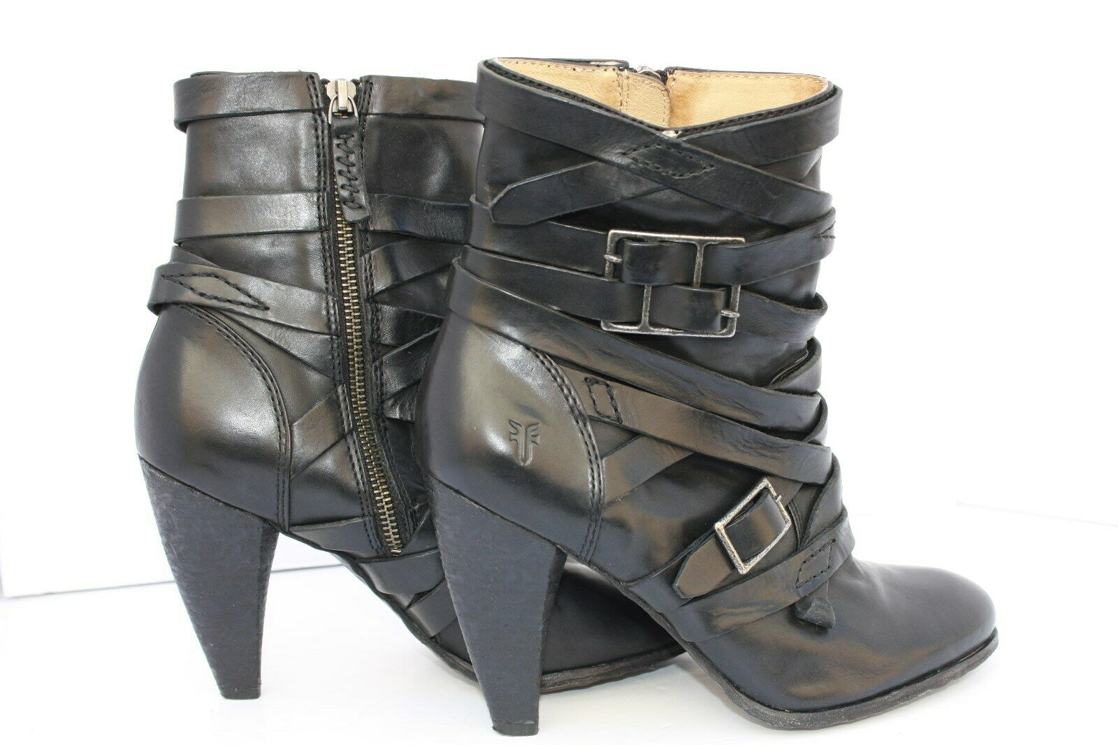 Frye Mikaela Women's Leather Strappy Boot Booties Black Size 8.5 8.5 8.5 M cd14af