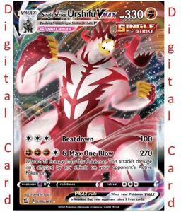 86/163 Urshifu VMax - Battle Styles - DIGITAL online Card - TCG Pokemon
