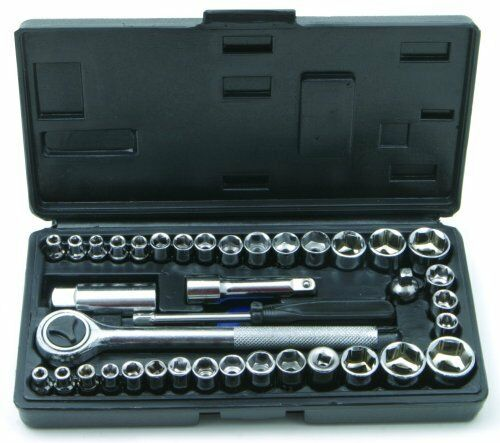 New Socket Set Professional Travel 40 Pieces Screw driving Tools Car Mechanic