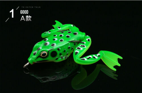 1//5pcs Lunker Frog Series Lures Bionic Bass Pike Musky Baits Fishing Tackle New