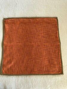 Pottery Barn Pb Basketweave 20 X20 Pillow Cover Orange