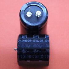 8 PZ. 6800uf 35v 105 ° Roederstein Elko snap in piatto RM = 10mm 8pcs.