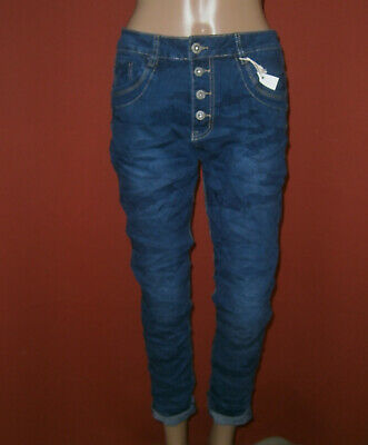 2XL KAROSTAR Jeans 52-A Knopfleiste Denim Look Boyfriend Baggy Ghino Grösse S