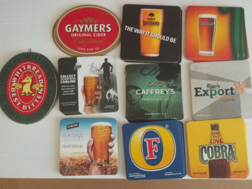 Assorted Mix of 10 Bar Pub Beer Mats Coasters   PARTY PACK Lot 2