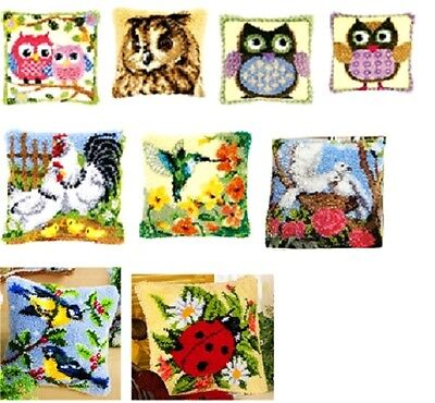 """Vervaco Latch Hook Cushion Front Kit 16/"""" x 16/"""" inches FLOWERS"""