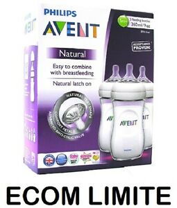 New-Avent-Philips-Natural-Feeding-3-x-Bottle-260ml-9oz-BBA-FREE