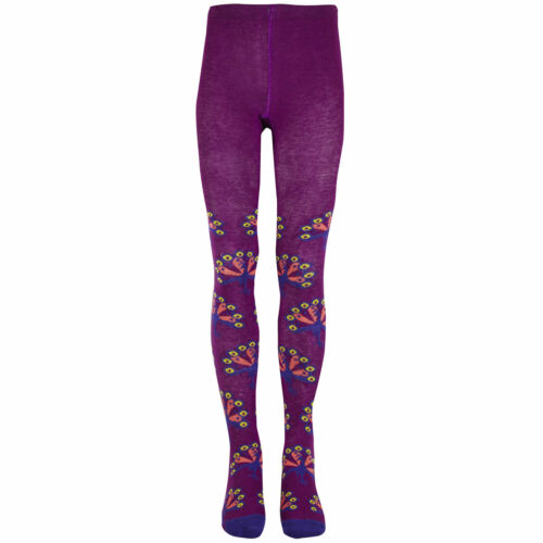 Peacock 3M-3T Girls Footed Tights Plum