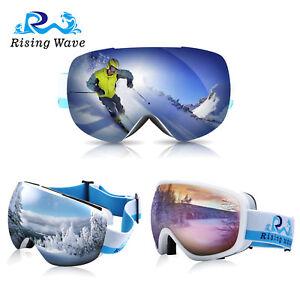 eebb39e8f082 Ski Snow Goggles Snowboarding Anti-Fog Lens 100% UV400 Protection ...