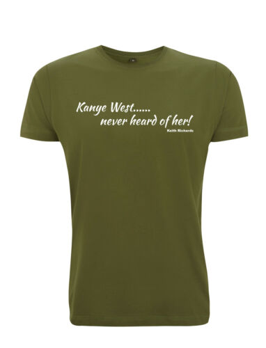 """Quote The Rolling Stones Keith Richards /""""Kanye West/"""" T Shirt"""
