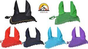 Crystal-Decorated-Horse-Fly-veil-Crochet-breathable-Cotton-Ear-Net-Bonnet-Full