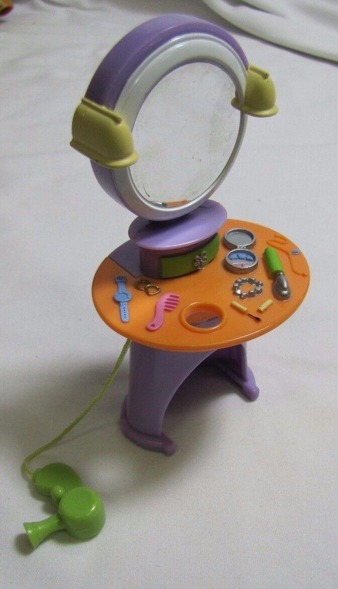 Rare FISHER PRICE Loving Loving Loving Family Dollhouse TEEN GIRL BEDROOM VANITY w  Hair Dryer d38f9e
