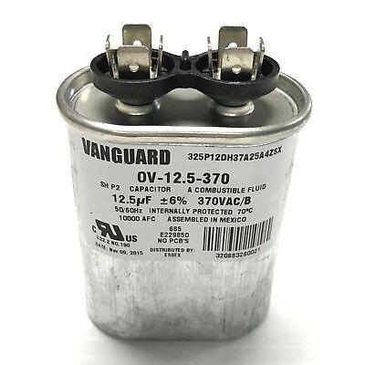 12.5 µF 370 VAC 50-60Hz Vanguard OV-12.5-370 Run Capacitor