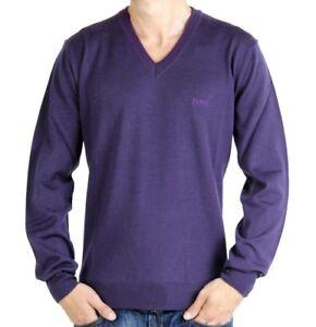 ba6ddee4 Mens Hugo BOSS Baldur Regular Fit Wool V-Neck Sweater / Jumper ...