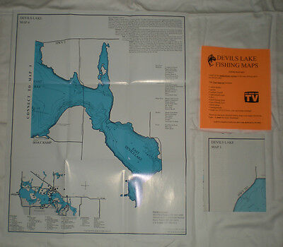 Devils Lake Waterproof Fishing Maps