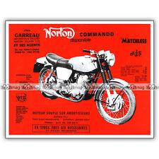 PUB NORTON 750 COMMANDO - Original Advert / Publicité Moto 1969 #3