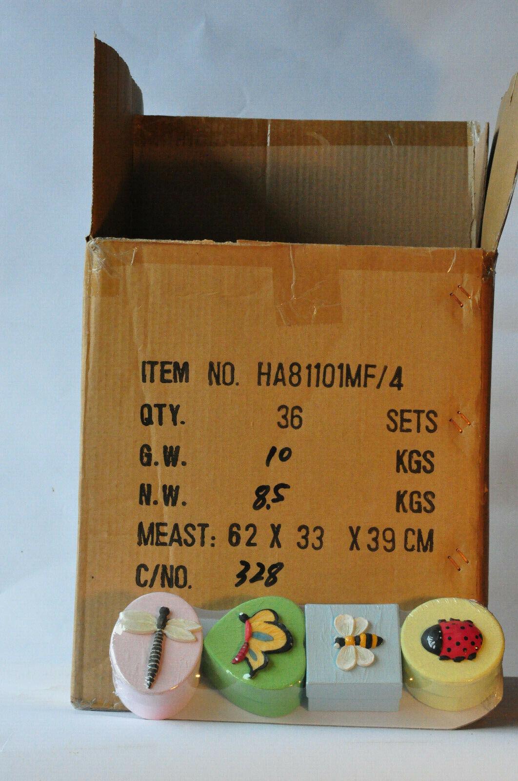 1 Karton (36 Sets) Geschenkbox-Sets, pastelfarben, Frühling 4-fach