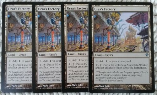 MTG Commander 2013 Mind Seize Urza/'s Factory x4 With Sleeves MINT