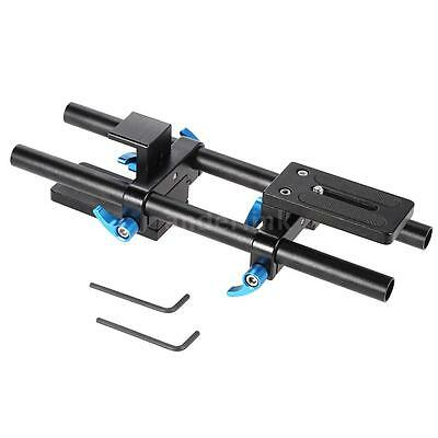 15mm Rail Rod Support System Baseplate for DSLR Camera Follow Focus W2C6