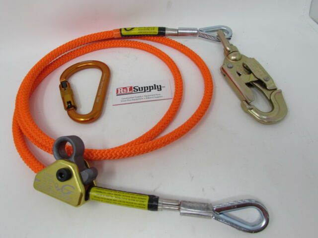 """Climb Right 5//8/"""" x 10/'  Wire Core Flipline Kit W// Rope Grab and Carabiner 75242"""