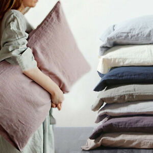 100-Pure-Natural-Linen-Pillow-Cover-48x74cm-Slip-Flax-Pillowcase-French-Country