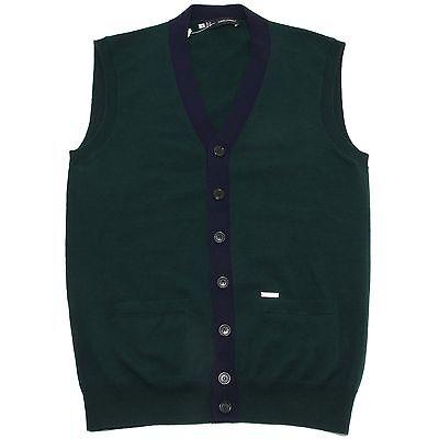 buy online 99e00 c0795 95484 cardigan smanicato verde e blu DSQUARED D2 LANA maglia maglione uomo  sweat | eBay