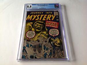 JOURNEY-INTO-MYSTERY-59-CGC-5-5-SHAGG-JACK-KIRBY-STEVE-DITKO-ATLAS-COMICS