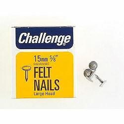 Galvanised Head Clout Nails Extra Large 15mm Box Pack Challenge Felt