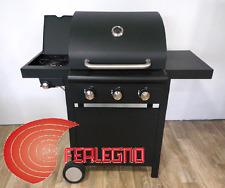 BARBECUE BBQ A GAS PER ARROSTO A PIETRA LAVICA 3FUOCHI 120X53X108CM ART.KE002