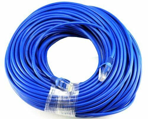 2 Pack BLUE 50FT 50 FT 15M RJ45 CAT5 CAT5E LAN Ethernet Network Patch Cord Cable