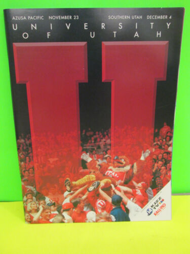 NCAA RIC MAJERAS STORY UNIVERSITY OF UTAH UTES  GAME PROGRAM-W//AZUSA PACIFIC
